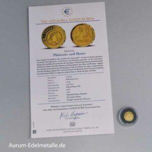 Spanien 20 Euro Goldmünze Phönizier und Iberer 2016 PP mit Zertifikat