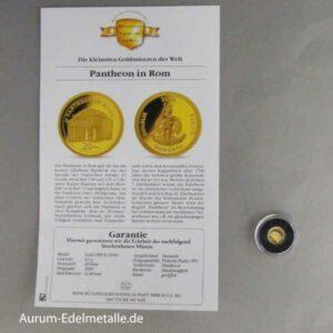 20 Vatu Pantheon in Rom 2009 Zertifikat