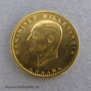 25 Piaster Atatürk Goldmünze