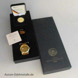 Deutschland 100 Euro Gold Weltkulturerbe Trier 2009 mit Uhr und Zertifikat in Originalbox