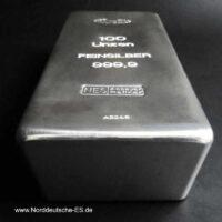 100 Unzen Silberbarren 999.9 NES