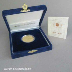 Vatikan 50 Euro Goldmünze Abrahams Opfer 2002