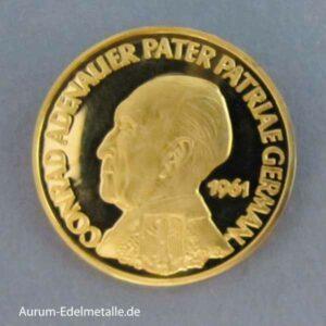 Aureus Magnus 1 Dukat Gold 1958-1964 Adenauer 1961