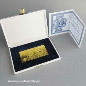 Deutschland 1968 Die goldenen Tausender 20 Jahre Deutsche Mark 1000 DM Banknote in 9999 Feingold