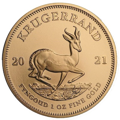 Kruegerrand 1 oz 2021 Goldmuenze