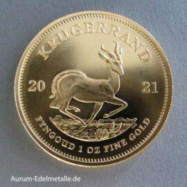 Krügerrand 1 Oz 1 Unze Goldmünze 2021