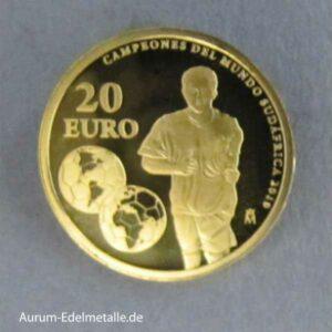 Spanien 20 Euro Goldmünze FiFa 2010