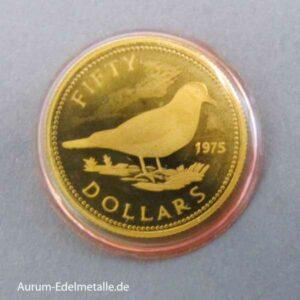 Bahamas 50 Dollars Unabhängigkeit 1973 Goldmünze 1975