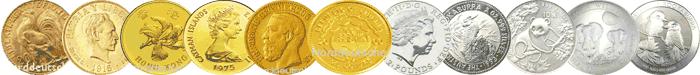 Goldbarren Goldmuenzen kaufen direkt in der Scheideanstalt oder im Shop
