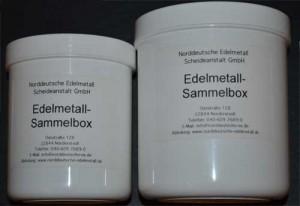 Edelmetall Versandbox anfordern Edelmetallsammelbox