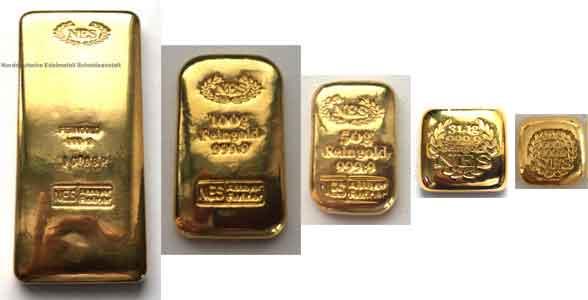 Feingold 9999 Investmentbarren Goldbarren-Norddeutsche-E.S.