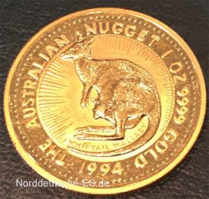 Goldmuenze Australien-Nugget-Kangaroo-1-oz-Feingold-9999