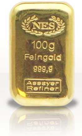 Norddeutsche-ES-Goldbarren-100g-Feingold-9999