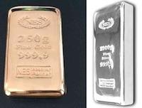 Gold und-Silberbarren NES GROUP