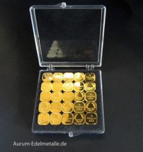 Aurum Edelmetalle 25g-Tafelgold-in-1g-Barren-NES-Feingold-9999
