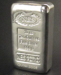 10 Unzen Feinsilber 999,9 NES