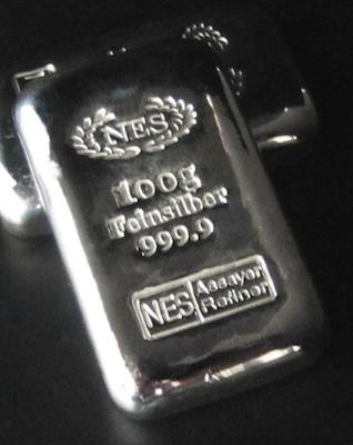 100g Feinsilber 999,9 NES
