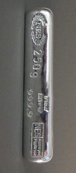 250g Feinsilber999,9 NES