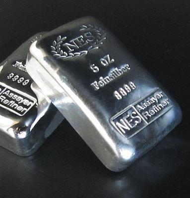 5 oz Silberbarren 999,9 NES