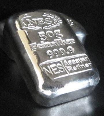 50g Silberbarren 999,9 NES