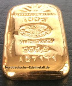 Goldbarren Argor-Heraeus