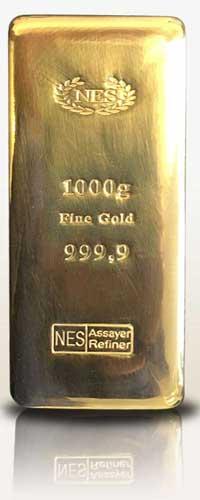 NES 1Kg-Goldbarren-9999