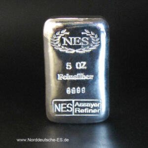 Silberbarren 5 Unzen Norddeutsche
