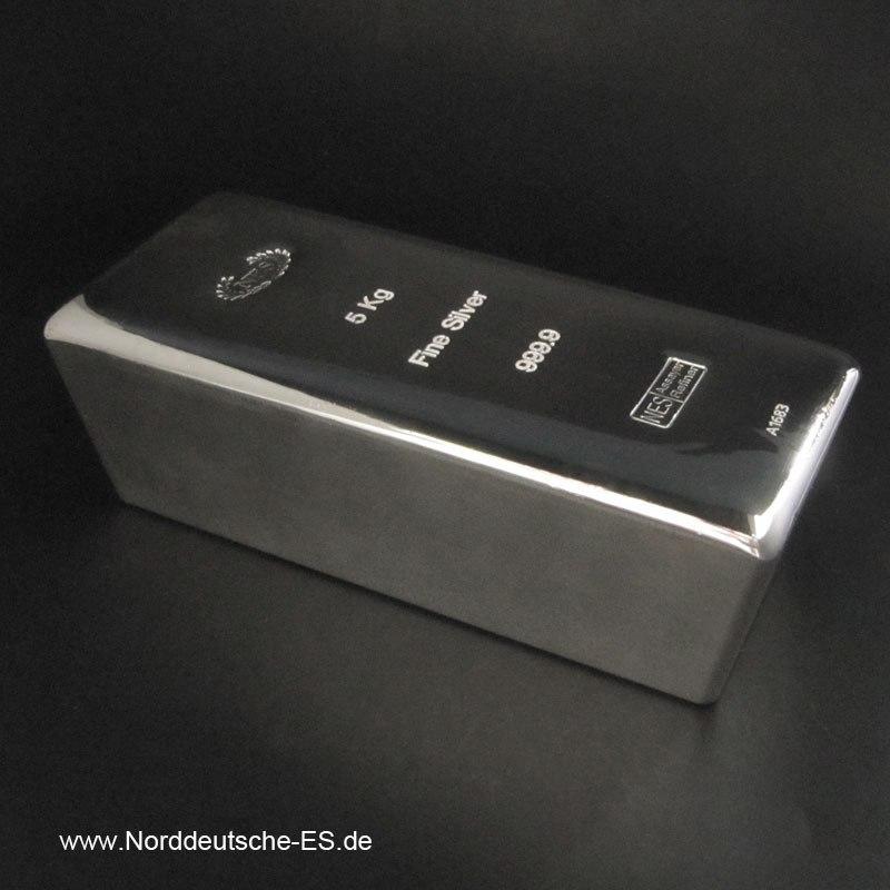 Silberbarren-5Kg-Feinsilber-9999-Norddeutsche