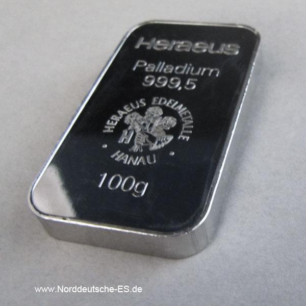 Barrenankauf 100-g-Palladiumbarren