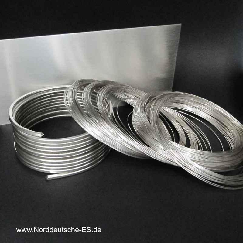Halbzeuge Silberdraht-Silberblech Granalien