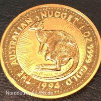 Bullion Muenze Australien-Nugget-Kangaroo-1-oz-Feingold-9999-1994