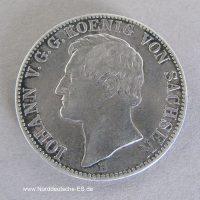 Silbermuenze Ausbeutetaler-1867-B-Johann-Koenig-Sachsen-Segen-Bergbaus
